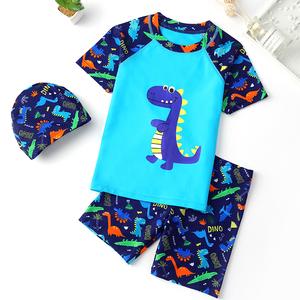 儿童游泳衣男童分体中大童小男孩婴幼儿宝宝学生防晒泳装泳裤套装