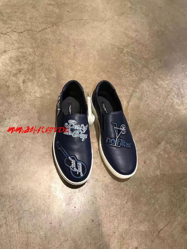 意大利代�Dolce&Gabbana杜嘉班�{ 男士休�e鞋皮鞋平底套�_特�r