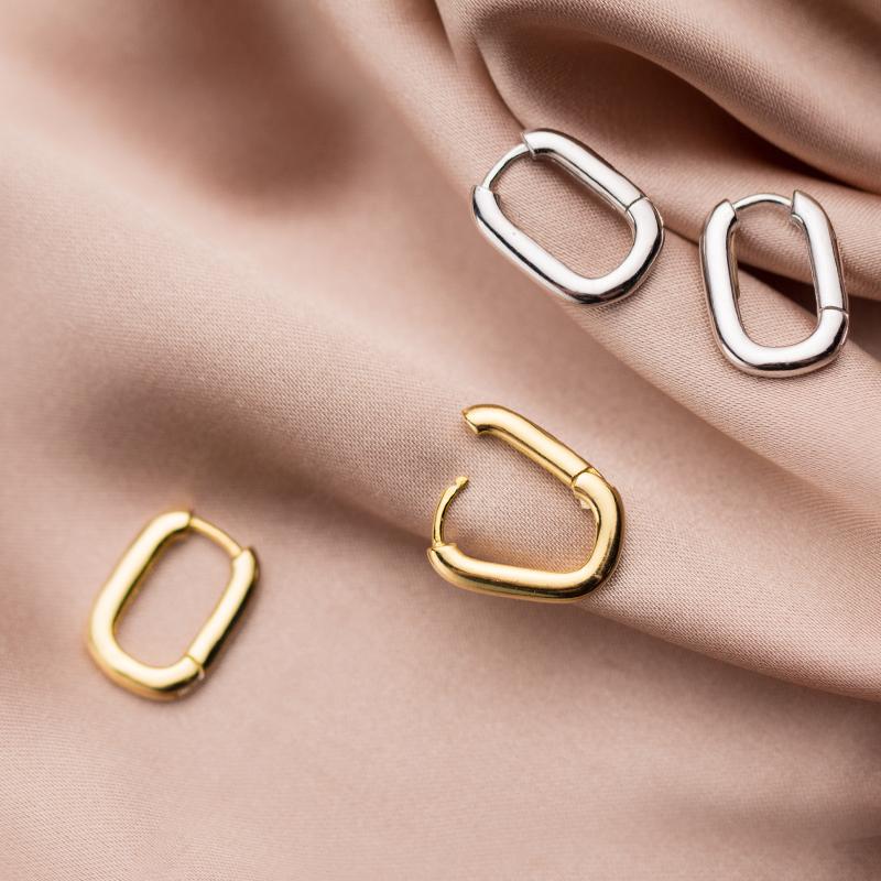 爱洛奇 s925银耳扣女韩版简约个性小清新字母O形气质少女心耳饰品