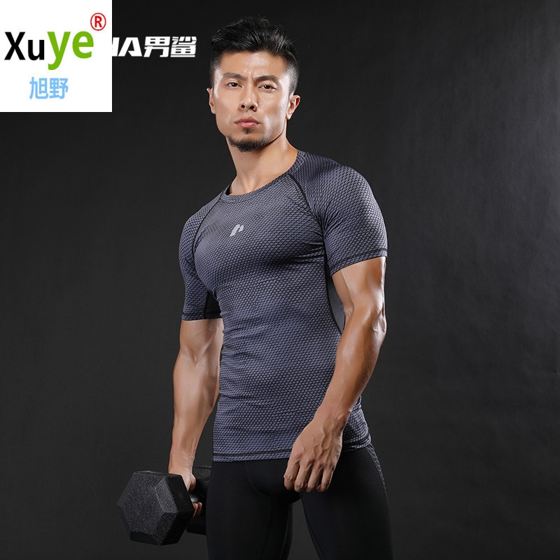 mens sexy GYM sports workout athletic short sleeve t-shirts