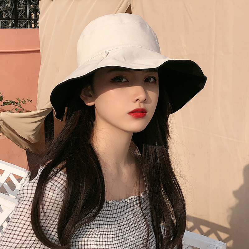 渔夫帽女夏季日系遮脸百搭防晒紫外线遮阳帽子女韩版潮网红太阳帽