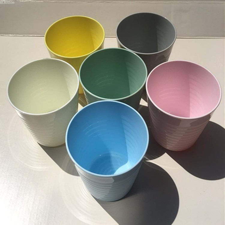 IKEA genuine childrens tableware plastic color large glass drinking glass beer cup tooth brushing cup multi-color large package mail