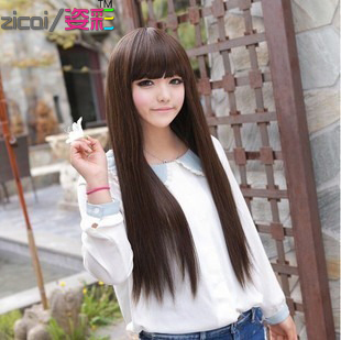 Wigs / wig accessories with long straight hair Qi Liu Korean girls Wigs / wig accessories star Wigs / wig accessories models cute sweet
