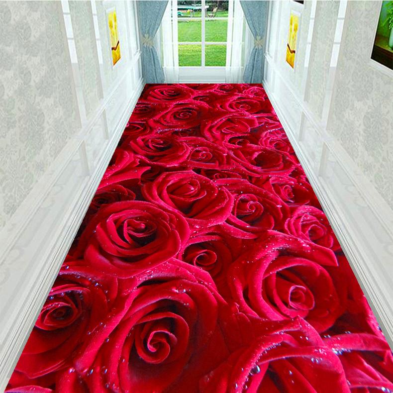 温馨可爱玫瑰花喜庆客厅茶几地毯好不好