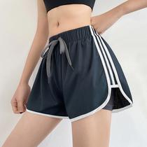 运动短裤女夏季宽松休闲防走光速干健身裤专业跑步训练三分瑜伽裤