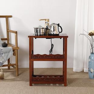 酸枝木仿古中式 花梨木实木红木小茶桌台功夫茶几边几茶车泡茶水架