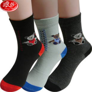 6 pairs Langsha genuine combed cotton socks autumn and winter men and boys socks cotton socks M7902