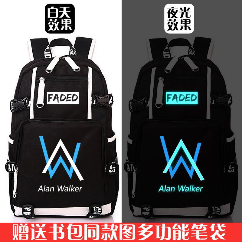 艾伦沃克faded书包Alan Walker周边男女学生双肩背包旅行包电脑包