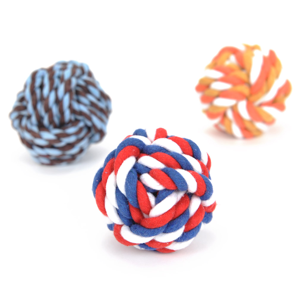 Pet Bite Rope Teddy Dog Tooth Cleaning Toy Dog Ball Dog Bite Rope Molar Tooth Bite Pet Toy Bite Ball