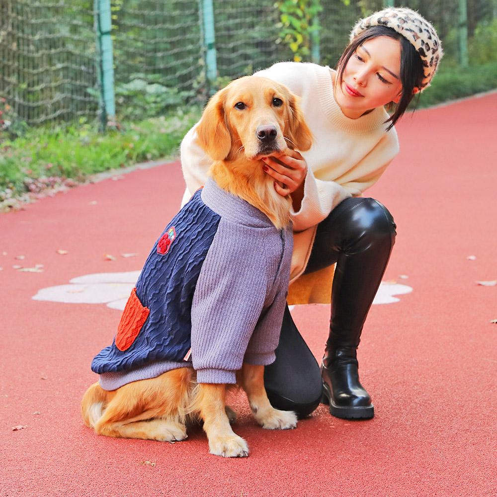 狗狗衣服金毛拉布拉多中型的毛衣