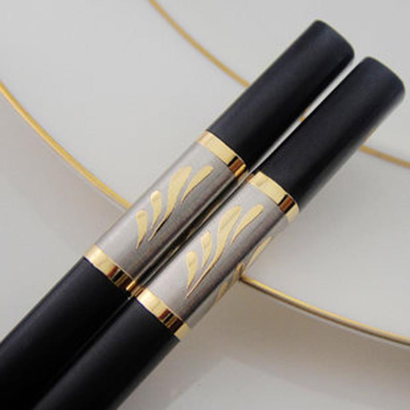創健無漆無蠟家庭防滑家用酒店 筷子套裝10雙 合金筷子