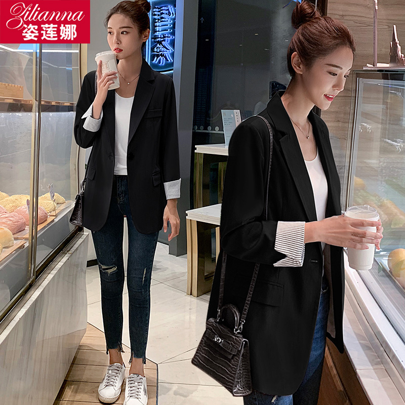 Chic net red Blazer women's ins fashion 2020 spring and Autumn New Korean loose casual suit women's top