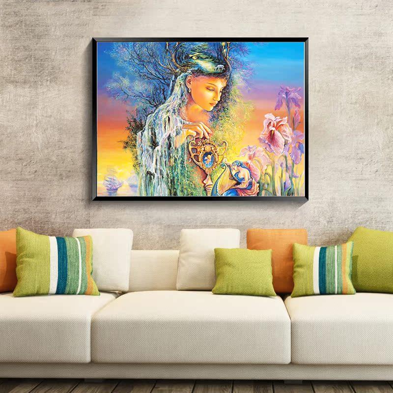 Алмазное бурение комнаты окрашены современный Европейский пейзаж Англии стиль ручка выскальзования минималистской спальни мечта круглый Алмазный крест стежком от Kupinatao