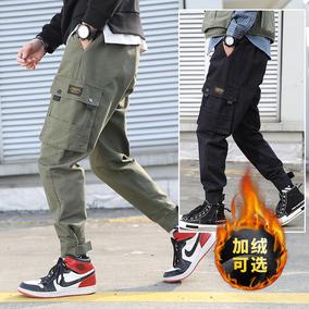 男夏季潮牌束脚宽松百搭ins工装裤