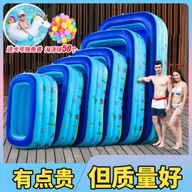 儿童游泳池充气加厚家用室内小孩超大户外大型水池婴儿家庭洗澡池图片
