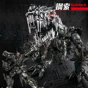 黑曼巴变形玩具合金正版 擎天金刚柱钢索恐龙大黄蜂机器人模型手办