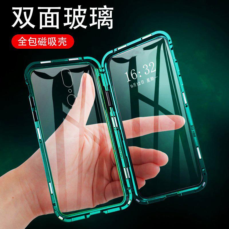 oppoa9手机壳双面玻璃万磁王A9x保护套透明F11Pro镜面防摔K1网红玻璃磁吸全包防摔男女款潮套
