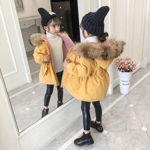 2020女童棉衣冬装宝宝加厚加绒棉服中大儿童派克服韩版洋气外套潮