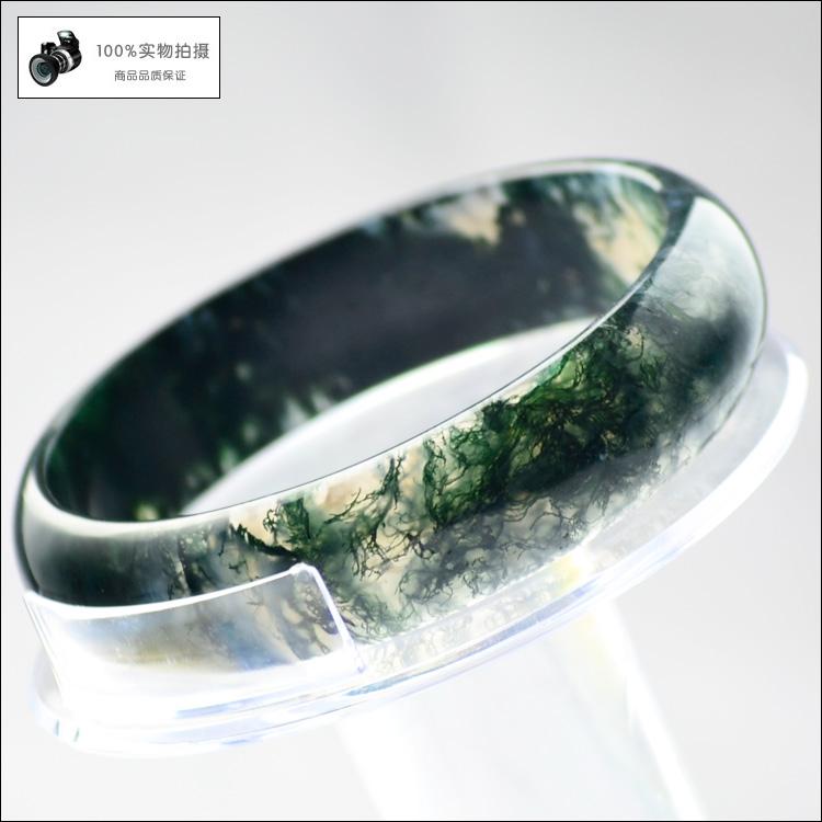 阜新水草玛瑙手镯 条镯 罕见稀有水草 支持珠宝店验货64MM 6300