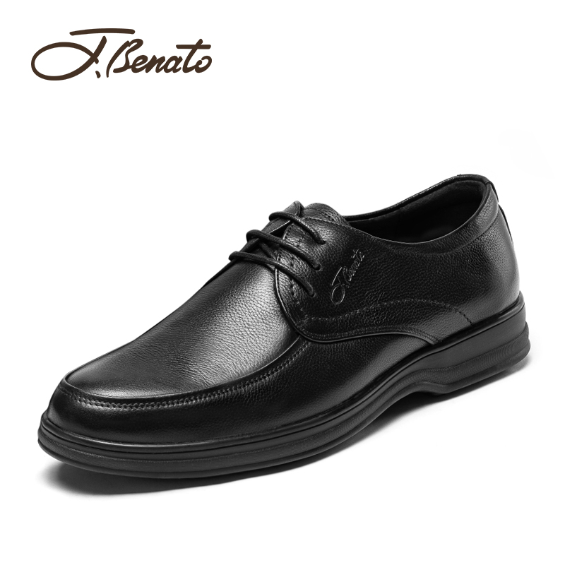 Italian Bento leather shoes middle aged man father business casual shoes flat heeled formal round head British deodorant brand