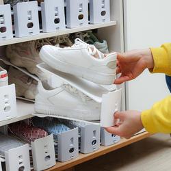 日本可调节收纳鞋架家用双层鞋托寝室宿舍置物神器拖鞋鞋柜鞋子