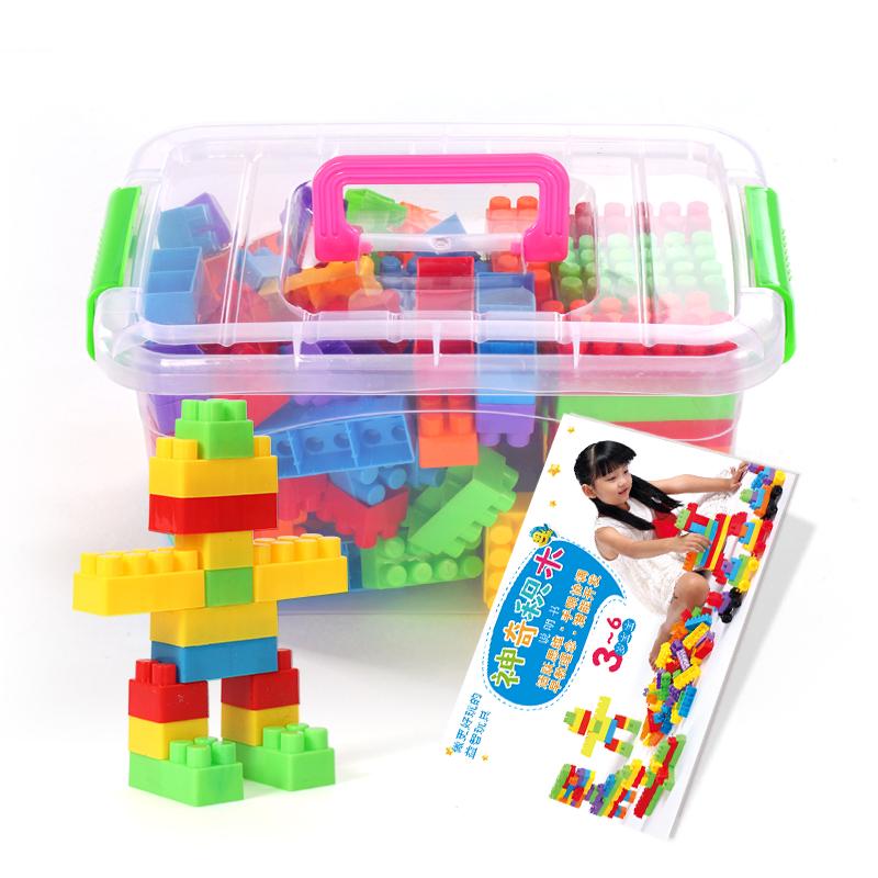 兒童大顆粒塑料拚搭積木 早教益智拚裝拚插1~2~3~6周歲男女孩玩具