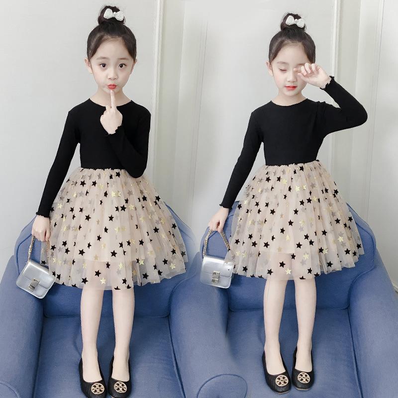 女童连衣裙2021秋季装新款韩版儿童大童裙子春秋小女孩洋气公主裙