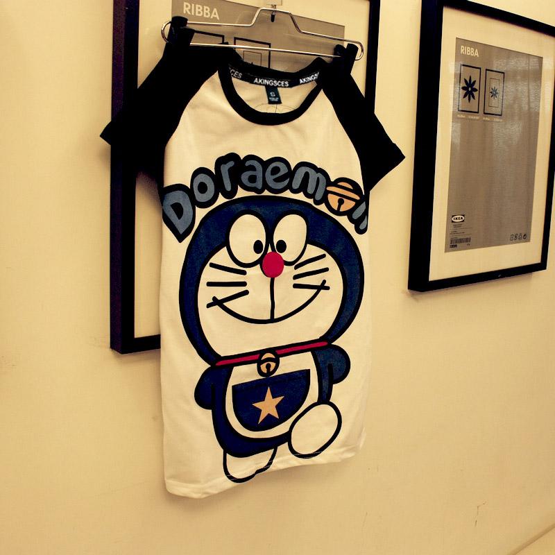 夏装清仓 香港潮牌 开心猫印花卡通纯棉可爱短袖T恤 男女装韩版