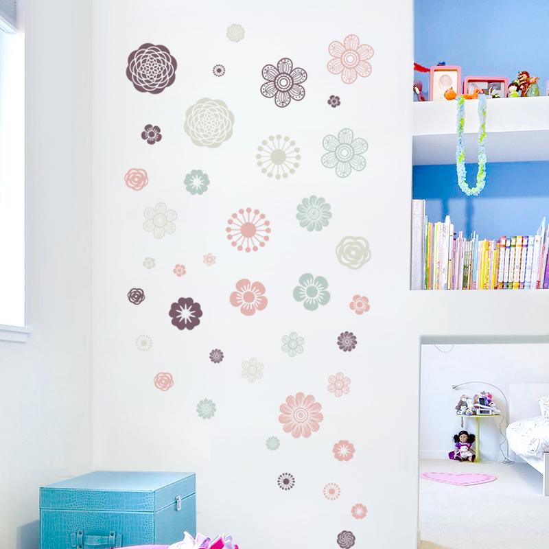 贴纸遮丑补洞装饰小图案卧室墙贴纸自粘墙贴墙壁贴画墙面装饰花朵图片
