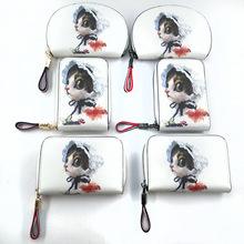 欧美创意pu零钱包 清新猫咪女士手拿包 日韩时尚潮流短款卡包定制
