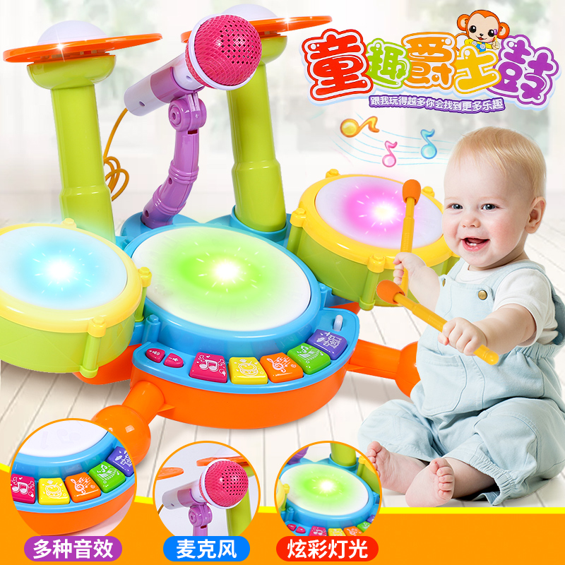 Ребенок полка барабан ребенок музыкальные инструменты мальчик новичок стучать борьба сэр барабан девушка музыка 0-1-3-6 лет игрушка
