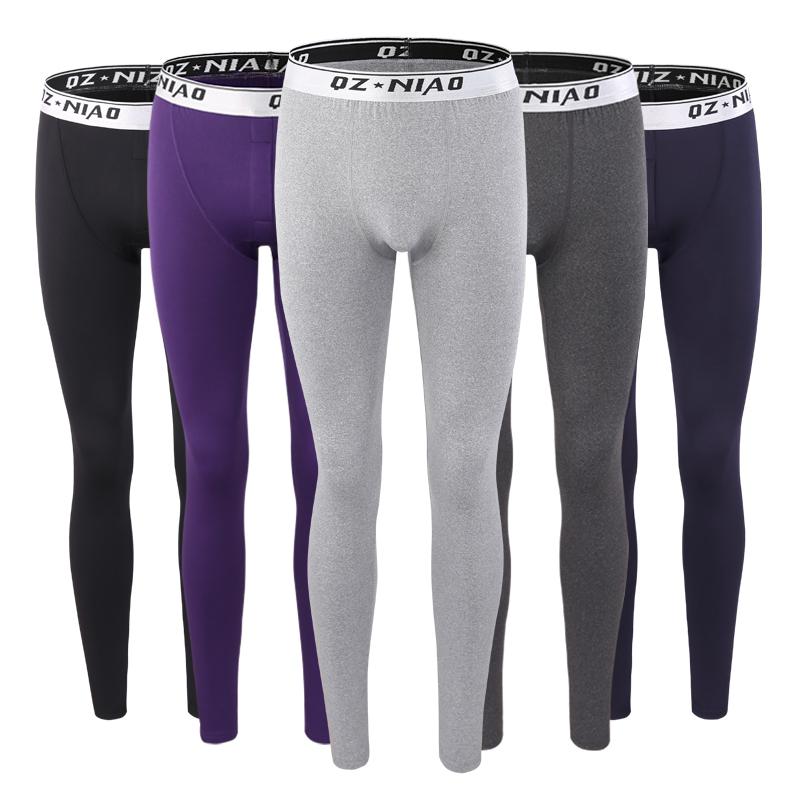 Осенние брюки одиночный разряд модель плотно теплые брюки тонкая модель линия брюки подкладка брюки зима молодежь плюс бархат термостатический брюки мужской ученый рейтузы волна