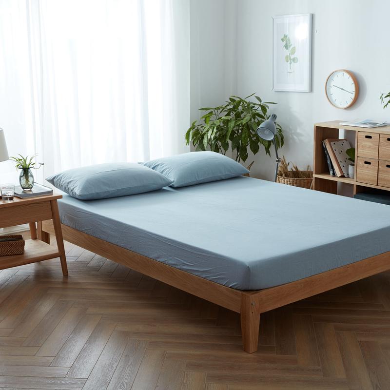 床单三件套纯棉被单单件学生宿舍双人单人森系床单ins北欧风少女