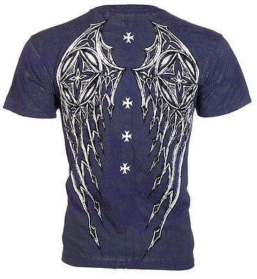 Purchase of influence Blue Cross Stone Harley Knight print mens fitness short sleeve T-shirt fashion