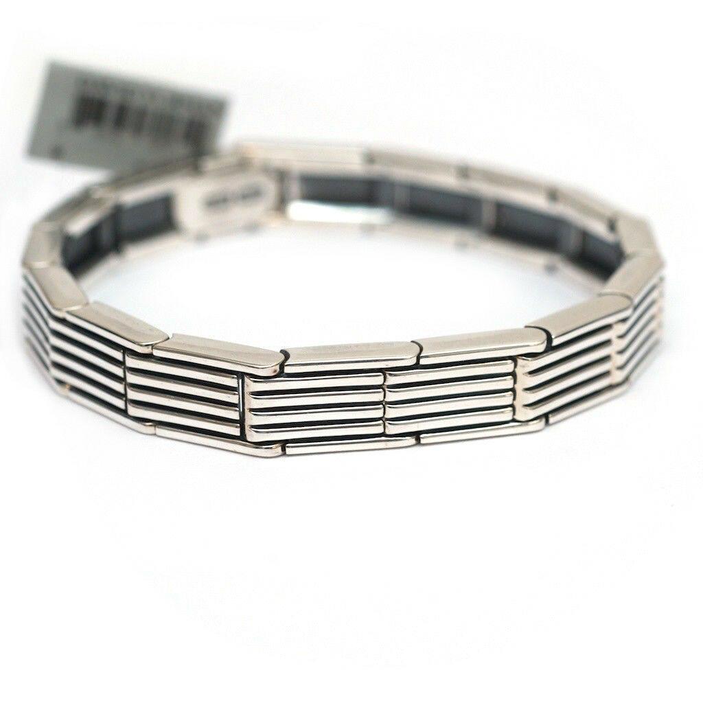 David Yurman, David yaman, Royal hinge link, Sterling Silver Mens bracelet, vintage style