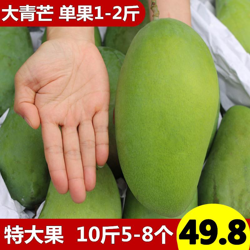 海南大金煌芒果超新鲜热带水果当季大青芒特大芒果10斤带箱
