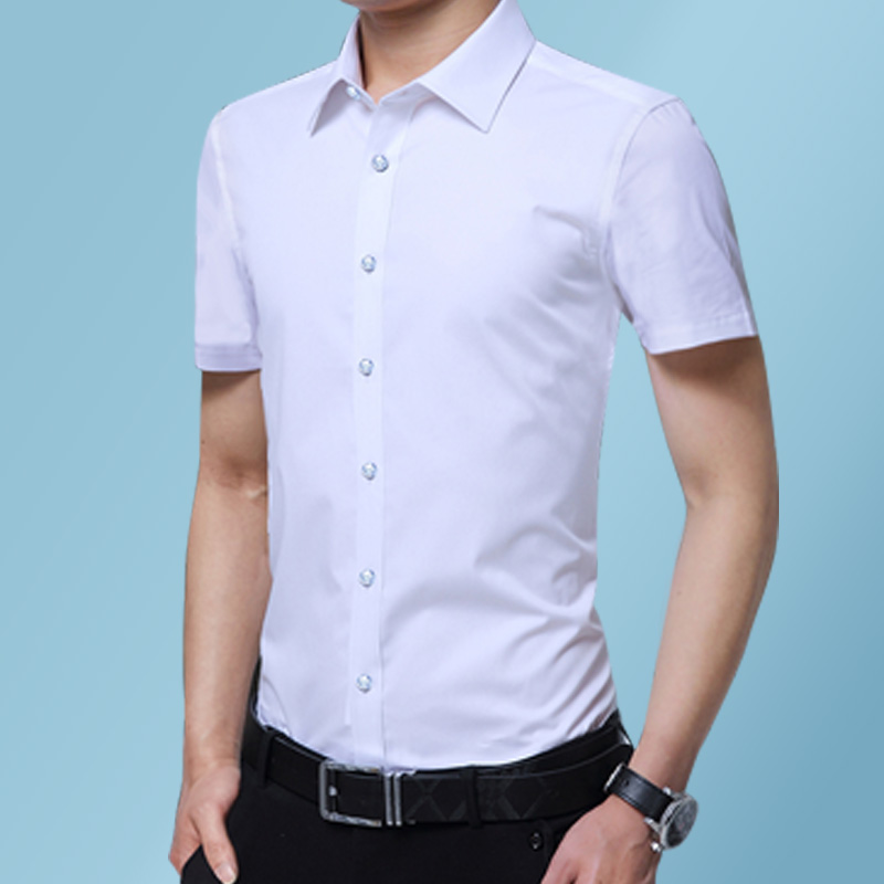 Summer 2021 new short sleeve shirt mens thin professional formal business shirt oversize short sleeve youth shirt