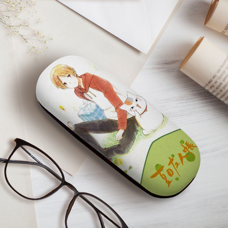Xia Mu friends tent cat teacher Gui Zhi animation peripheral glasses case stationery case leather packaging for boys and girls