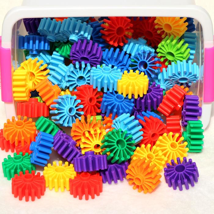 儿童益智力拼装大号齿轮花片玩具男孩幼儿园拼插积木3-4-5-6周岁29.00元包邮