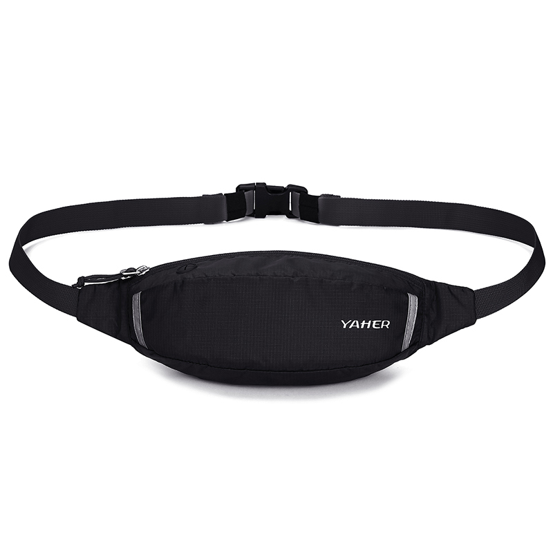 Yaher Yahe mens and womens sports waist bag running mobile phone bag 2019 new outdoor fitness slim waist bag