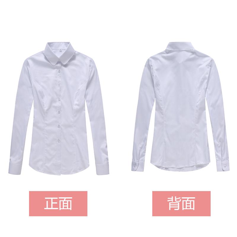 新款上海农商银行女士衬衫圆领白色条纹农村商业银行精品短袖衬衣