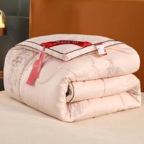 樂蝸家紡床上被子被芯子母被大提花二合一桑蠶絲被單雙人床LOVO