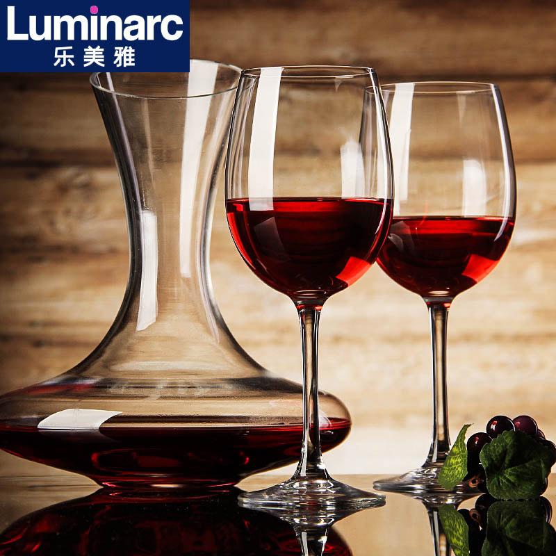 乐美雅家用2只装红酒杯无铅水晶玻璃高脚杯 葡萄酒杯红酒酒具套装券后29.00元