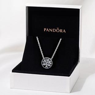 現貨潘多拉官網Pandora澳洲專櫃正品時尚生命之樹項鍊女397780CZ
