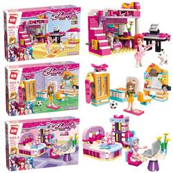 启蒙樂高积木女孩子系列益智拼装拼图儿童玩具公主雪莉的房间卧室