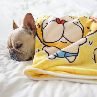 狗狗毛毯法兰绒宠物毯子睡眠毯加厚被子法斗柯基巴哥泰迪秋冬保暖