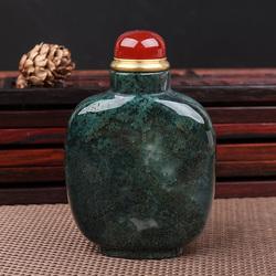 天然水草玛瑙丝状便于携带鼻烟壶