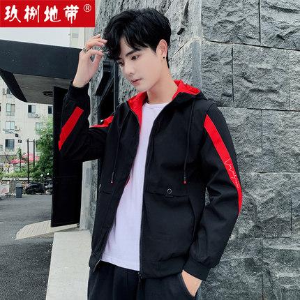 玖捌地带2019春秋装韩版男士夹克衫