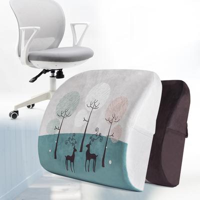 卡通记忆棉护腰靠垫腰枕办公室椅子腰靠汽车座椅靠背抱枕靠枕腰垫
