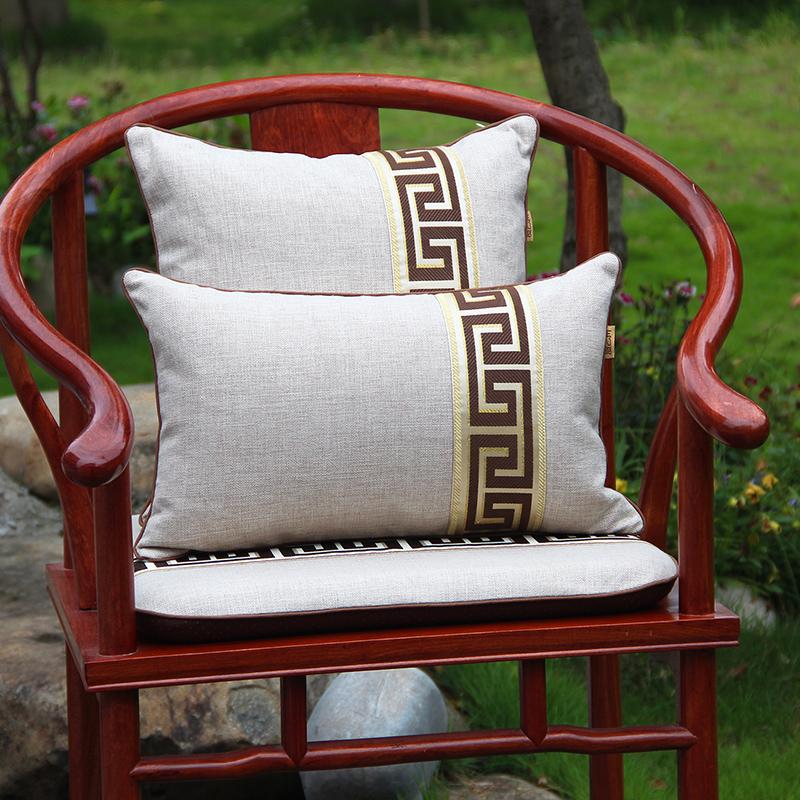 新中式沙发护腰靠垫中国风客厅抱枕